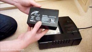آموزش تعویض باطری یو پی اس APC – مدل APC Backup ES700